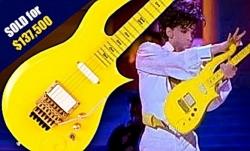 Гитара Принца и золотая прядка волос Боуи проданы