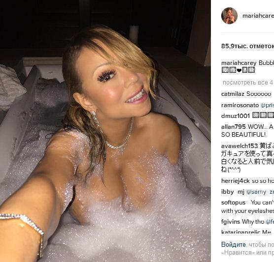 Мэрайя Кэри в ванне. Это не фото папарацци.