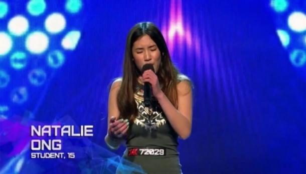 15-летняя Натали Онг восхищает на австралийском X Factor