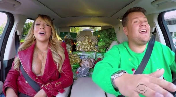 Рождественское настроение в Carpool Karaoke с Джеймсом Корденом