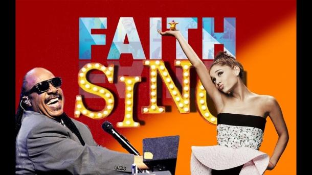 Ариана Гранде и Стиви Уандер в клипе для анимации Sing
