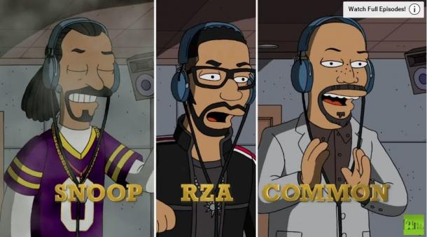 Симпсонами стали рэперы