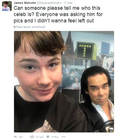Фото подростка с Ником Кейвом – хит интернета
