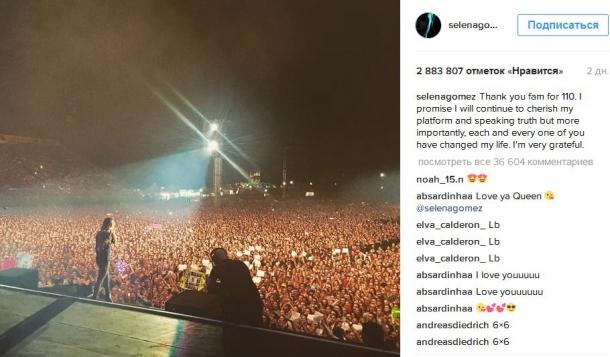 Селена Гомес в Instagram не имеет себе равных
