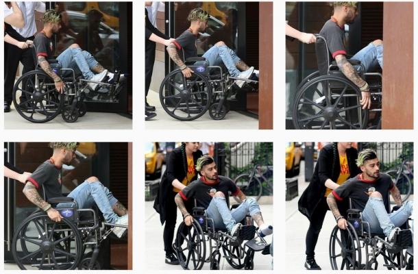 Зайн Малик в инвалидной коляске: загадочная травма суперзвезды
