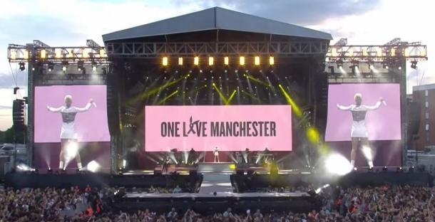 Что скрывало платье Кэти Перри на концерте One Love Manchester?
