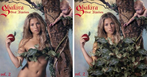 Цензура обложек дисков звезд шоу-бизнеса на Ближнем Востоке