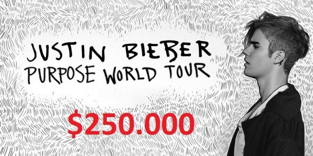 Сколько Бибер заработал на последнем турне?