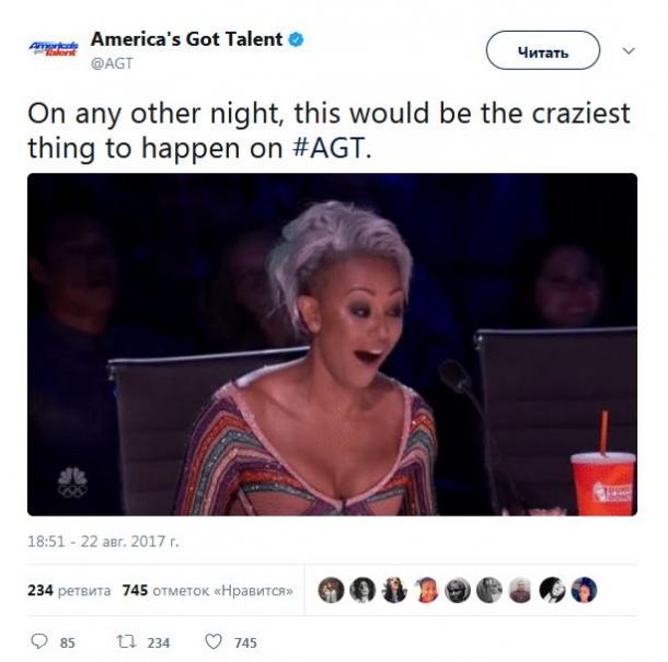 Скандал в эфире «America's Got Talent 2017»: Mel B покинула студию