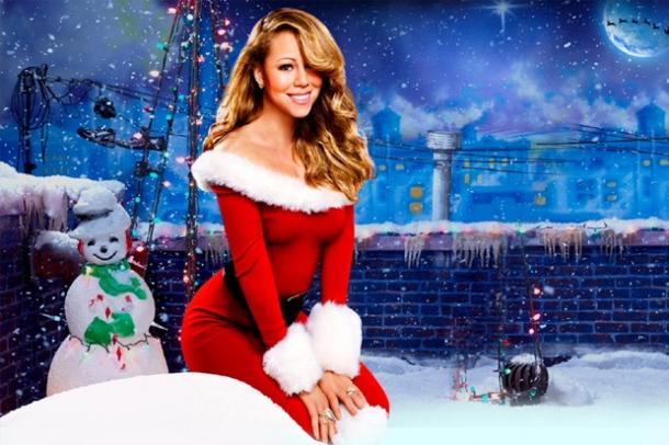 Мэрайя Кэри со снеговиком
