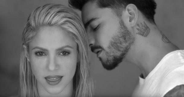 Шакира в клипе с Малума