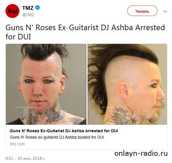 DJ Ashba из группы «Sixx:A. M.» был задержан полицией