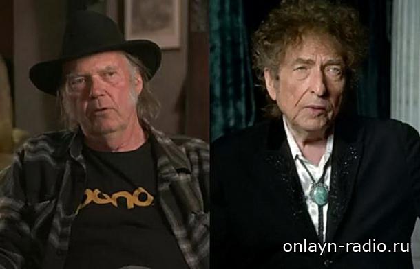 Боб Дилан и Нил Янг выступили на одной сцене впервые за 25 лет